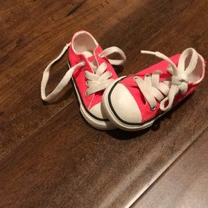 Baby size 3 converse hot pink